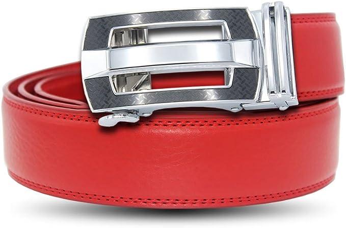 EZ CLICK BELTS Mens Genuine Leather Ratchet Belts Pin Buckle Style