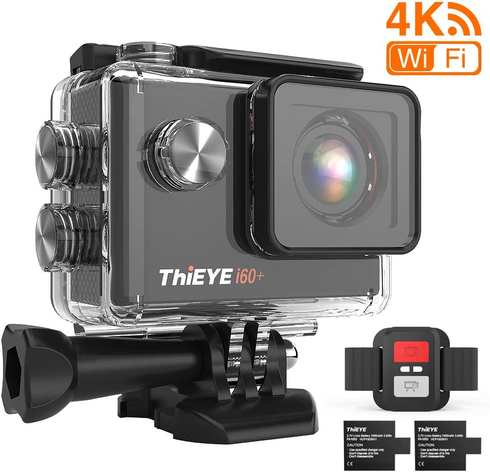 ThiEYE 4K 20MP WiFi Action Camera Full HD Waterproof Cam 197ft Underwater Camcorder WAS £39.99 NOW £31.99 + 12% OFF voucher on listing @ Amazon