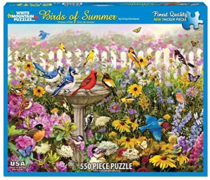 White Mountain Puzzles Birds of Summer - 550 Piece Jigsaw Puzzle