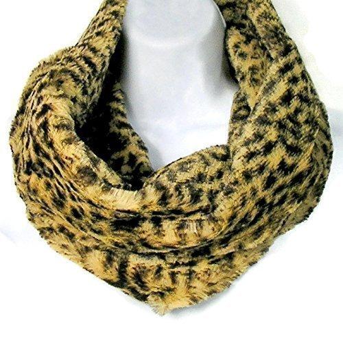 Faux Fur Leopard Infinity Scarf Faux Fur Infinity Scarves Faux Fur Leopard Cowl ()