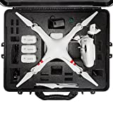 DJI Phantom 2 Hard Case. Military Spec., Waterproof and Airtight, Carrying Case with Foam for Phantom 2 / 2 Vision Quadcopter and GoPro Accessories