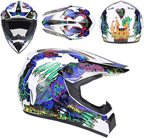 DZKU Casco para Motocross Descenso Off-Road Motocicleta Scooter Am ...