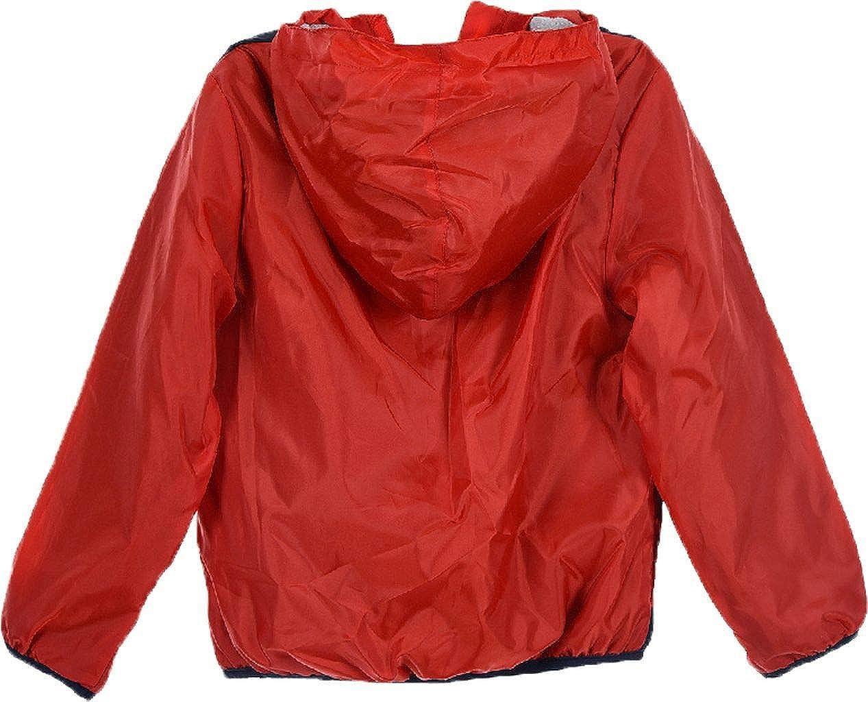 Paw Patrol Nickelodeon Chase Marshall Characters Boys Zipped Rain Jacket Coat Lightweight Stripes Pattern 2-8 Years