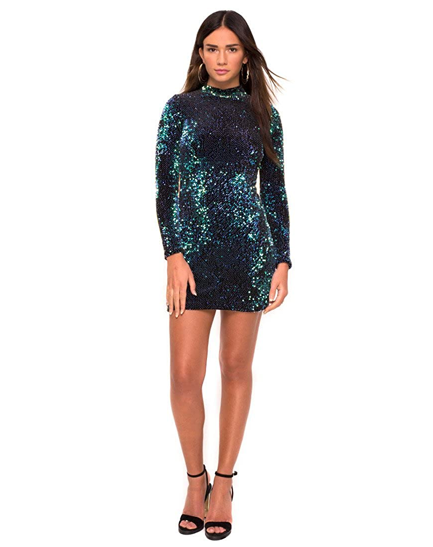 34cb5063cd0c Motelrocks - Ruby Rose Bodycon Dress in Green Iridescent Sequin by Motel:  Amazon.co.uk: Clothing