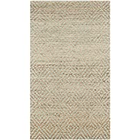 Safavieh Natural Fiber Collection NF453A Hand Woven Natural and Green Jute Area Rug (26 x 4)