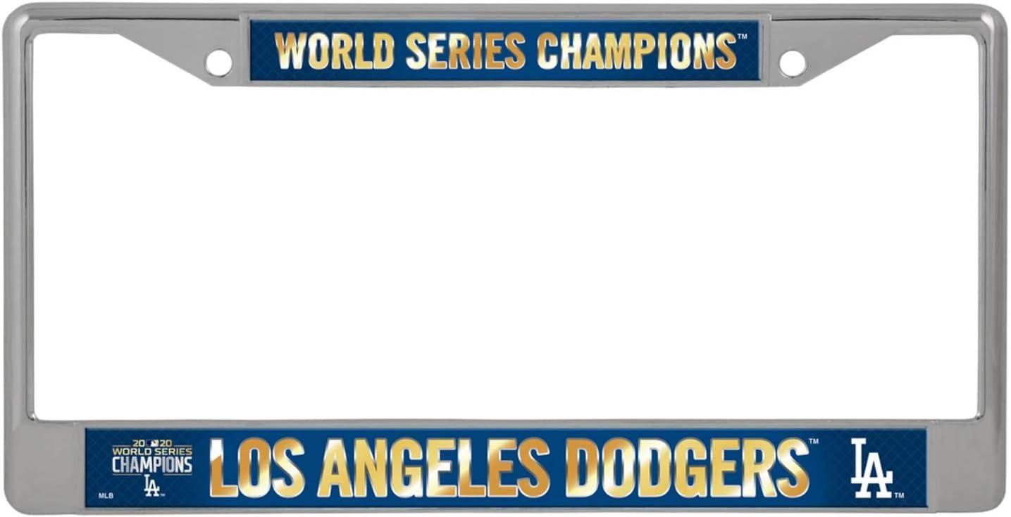 "WS Baseball Fan License Plate Rico 2020 Los Angeles /""LA/"" Dodgers World Champions Chrome Frame"