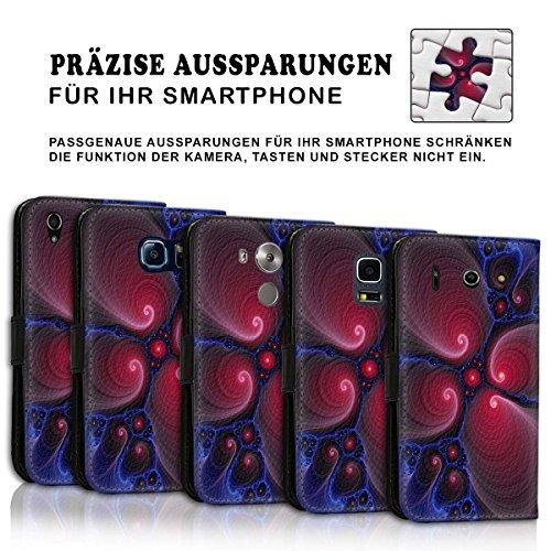 Wallet Book Style Flip Handy Tasche Case Schutz Hülle Schale Motiv Etui für Apple iPhone 4 / 4S - Design Flip MV300