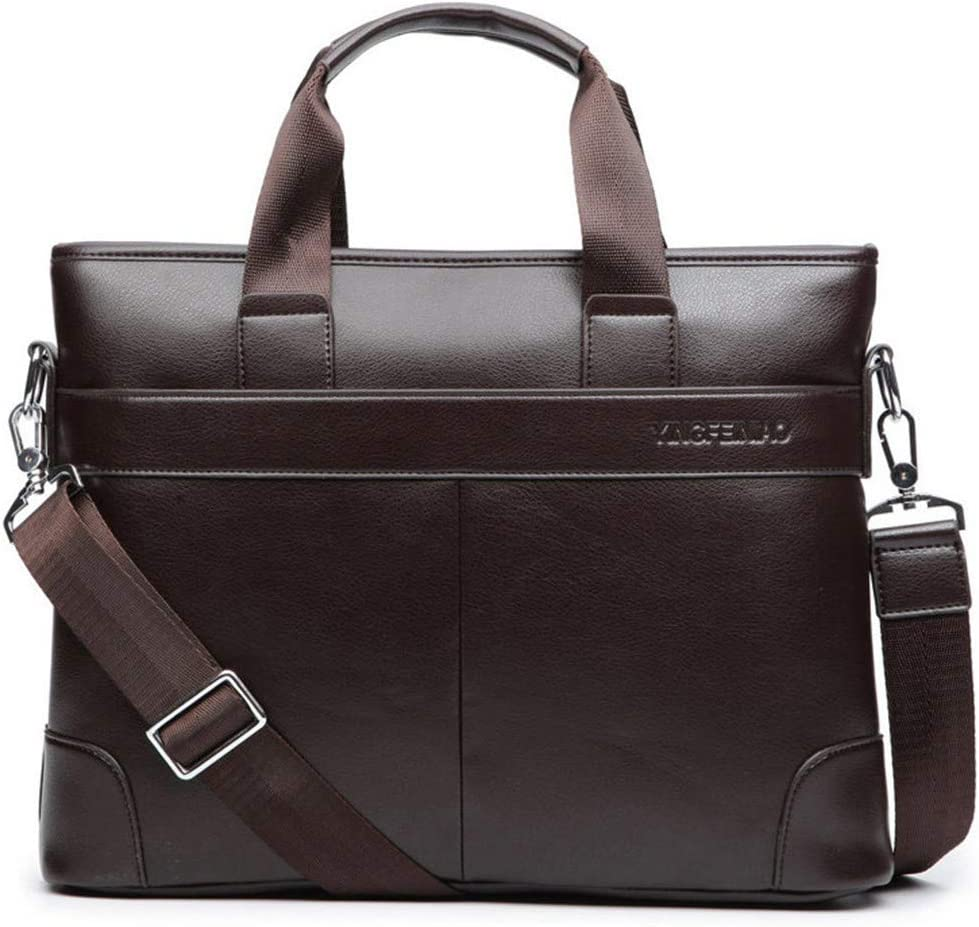 Mens Business Black Casual Bag Pu Leather Briefcase Mens Tote Bags Brown black