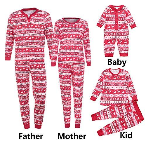 Seaintheson Family Matching Christmas Pajamas Deer Print 2Pcs