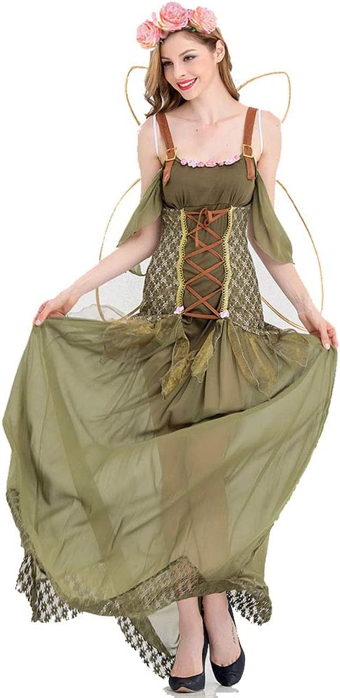 CAGYMJ Bosque Duende Dress Party Ropa De Mujer,Cosplay Hada Flor ...