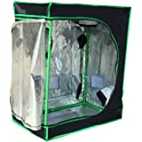 "Quictent SGS Approved Eco-friendly 30""x18""x36"" Reflective Mylar Hydroponic Grow Tent with Heavy Duty Anti-burst Zipper and waterproof Floor Tray for Indoor Plant Growing"