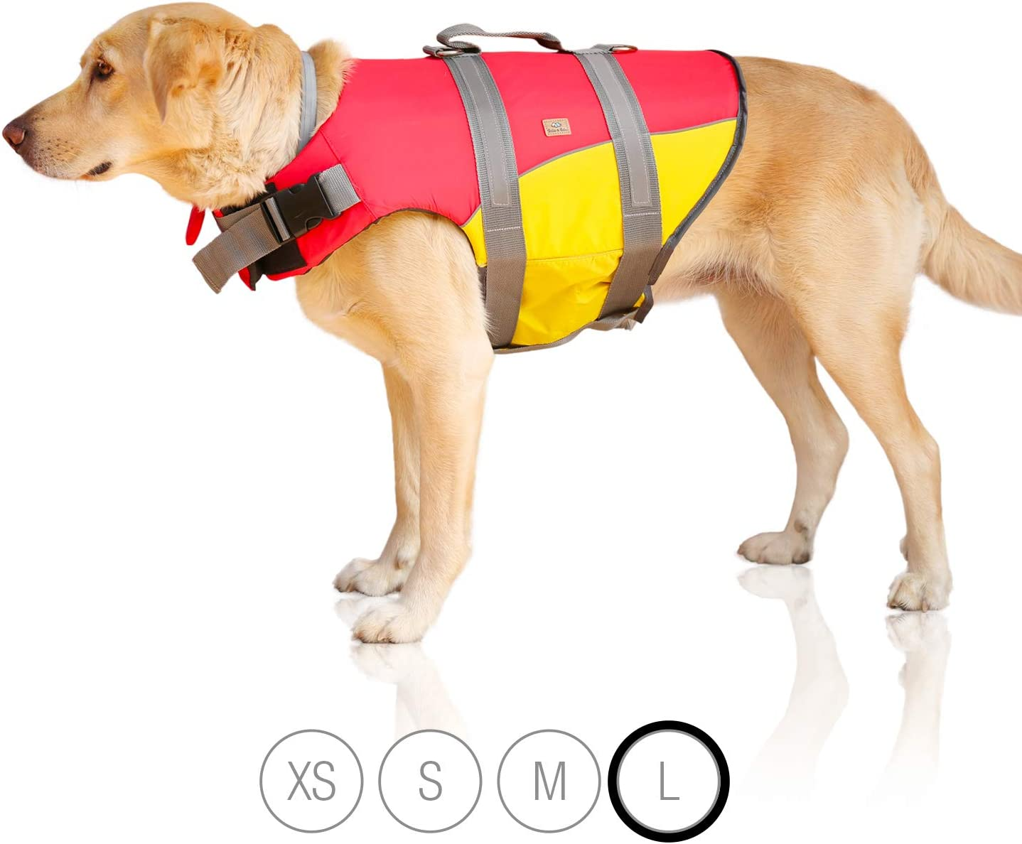 giubbotto di salvataggio riflettente per cani per la massima sicurezza in acqua durante il nuoto XS Bella /& Balu Giubbotto di salvataggio per cani