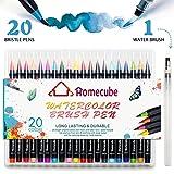 Watercolour Brush Pens, Homecube 20 Colours Brush Pens Set Marker Soft Flexible Tip Art Ink Painting Brush Water Paint Brush Create Watercolor Effect
