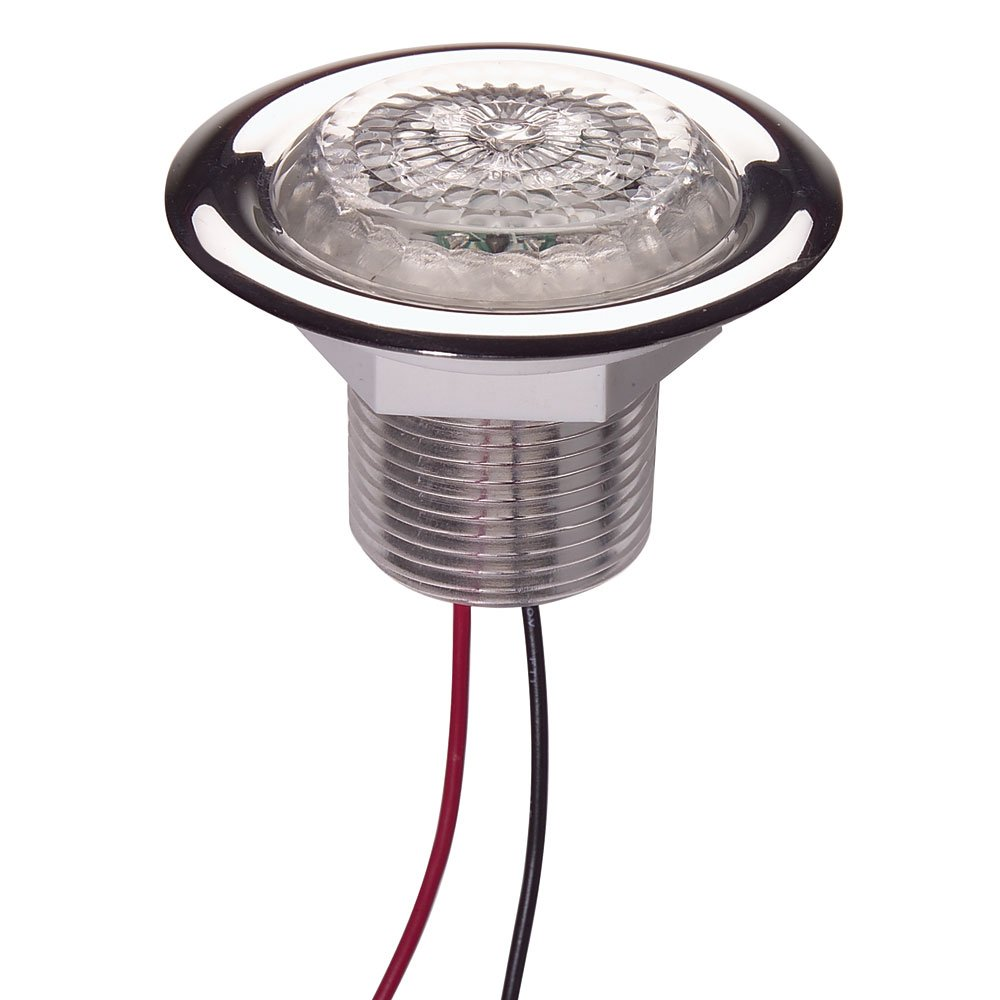 Innovative Lighting LED Recess Mount Starr Light with Stainless Steel Trim Ring, White