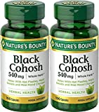 Cheap Nature's Bounty Natural Whole Herb Black Cohosh 540mg, 100 Capsules (Pack of 2)
