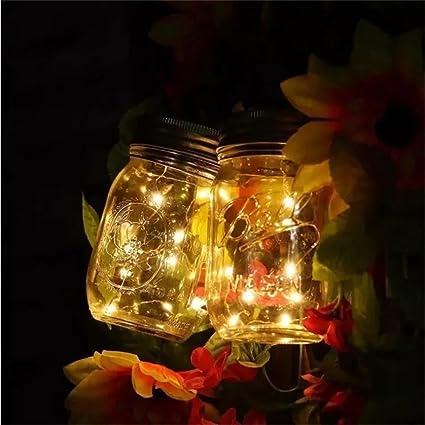 Solar al aire libre Color Mason tanque lámpara no Fire parte Depósito de ambiente romántico luz