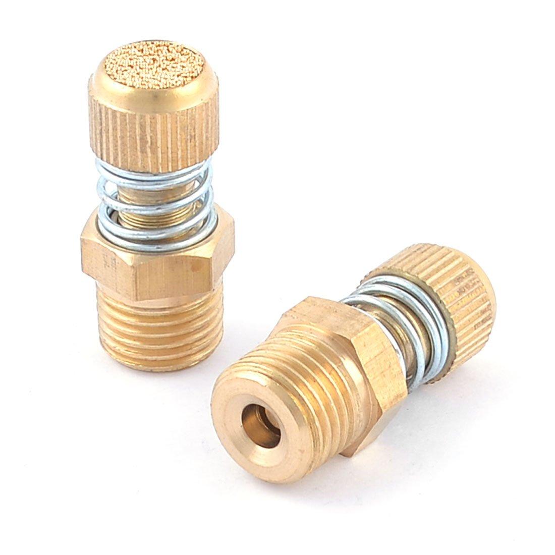 uxcell 2pcs 1//4 PT Thread Adjustable Pneumatic Reduce Noise Silencer Muffler