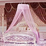 Icarekit Round Hoop Royal Bed Canopy Mosquito Netting Nets Tent Curtain Fit for Crib, Twin, Full, Queen, King Princess Bedding Set