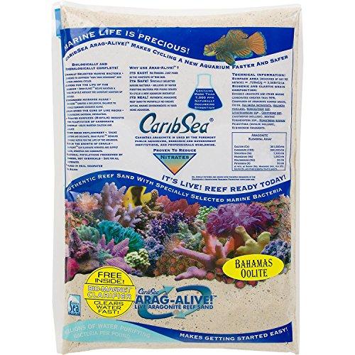 Carib Sea Arag-Alive Substrate, Bahamas Oolite, 20 lb. by Carib Sea
