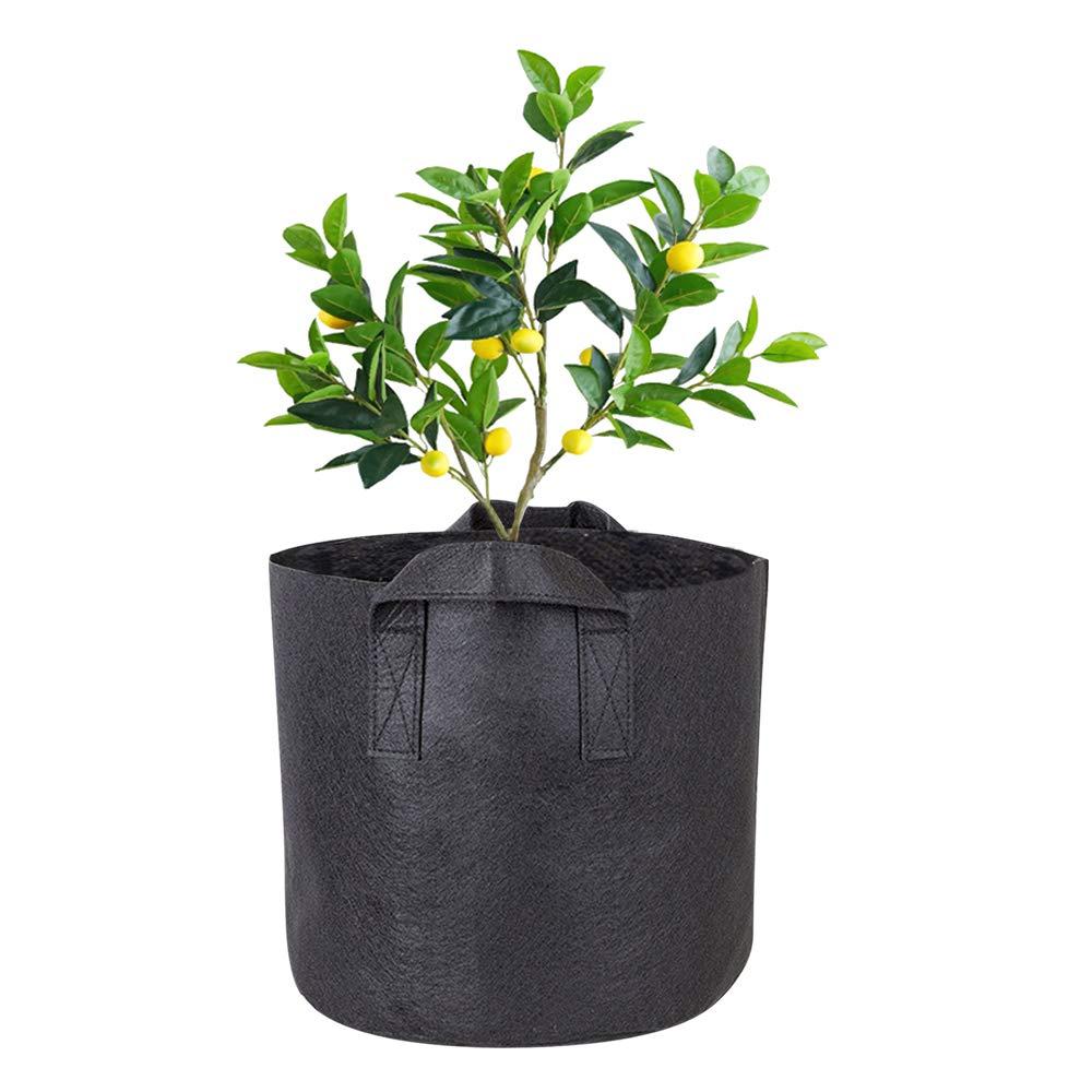 19L//5Gallon XFentech Noir Feutre Sacs de Culture Noir R/éutilisable Sacs de Plantes pour Plantes Fleurs Int/érieur Ext/érieur Sacs /à Plantes Pomme de Terre