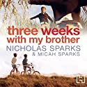 Three Weeks with My Brother Audiobook by Nicholas Sparks, Micah Sparks Narrated by Henry Leyva