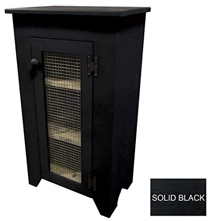 Amazing Primitive Jelly Cabinet With Screen Door (Solid Black)