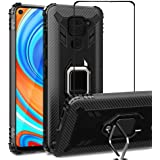 VICEANICS for Xiaomi Redmi Note 9 case with Tempered Glass Screen Protector, Soft TPU Armor Case Cover Reforced Cornors…
