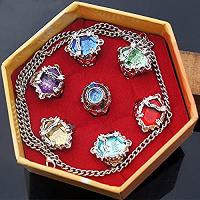 Anime Katekyo Reborn Seven Gem Rings Set Cosplay Accessories: Toys & Games