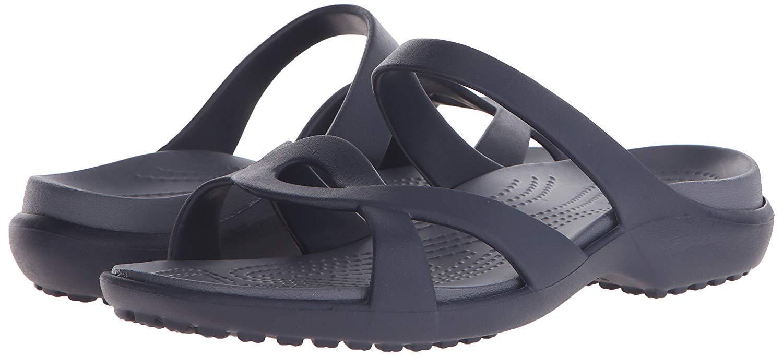Crocs Women's Meleen Twist Sandal (5 M US, Navy-Storm)