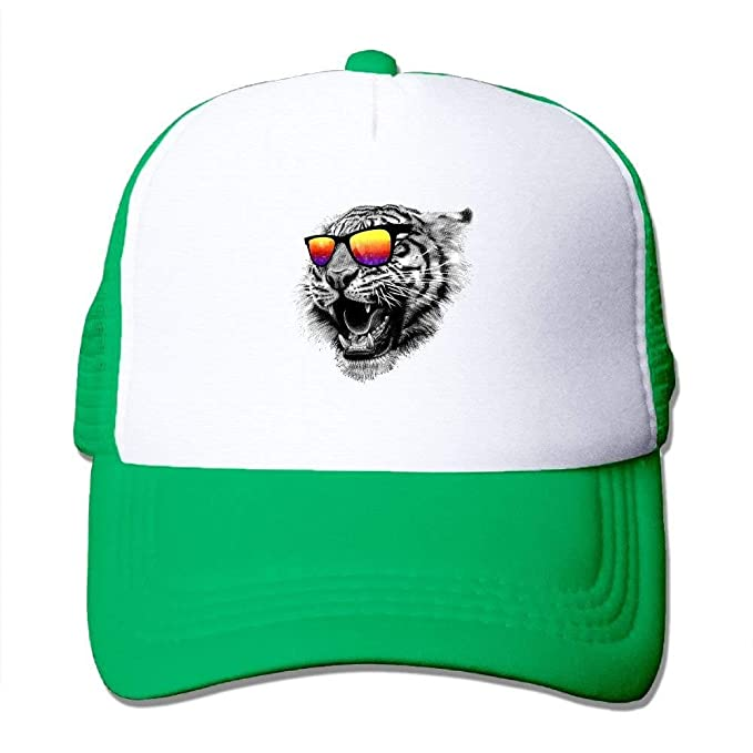 6abd8db3438ac Image Unavailable. Image not available for. Color  Roaring Tiger Adjustable  Snapback Baseball Cap Mesh Trucker Hat