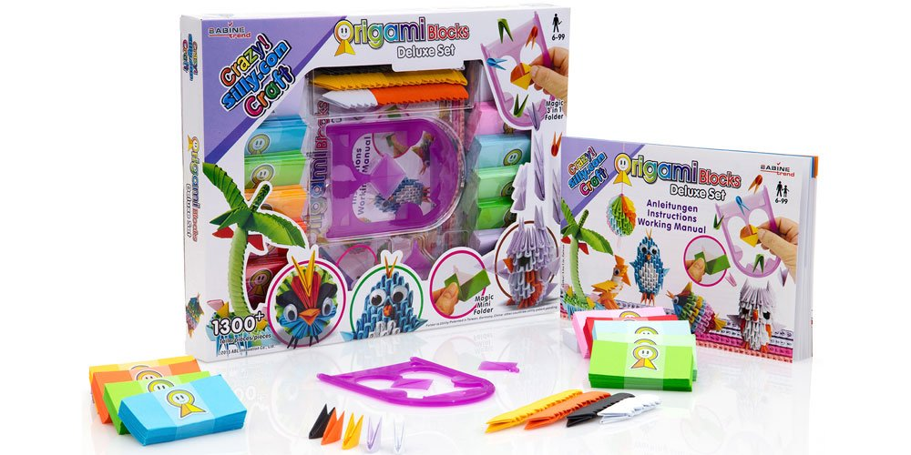 Crazy Silly Con Craft Origami Blocks Deluxe Set Amazon