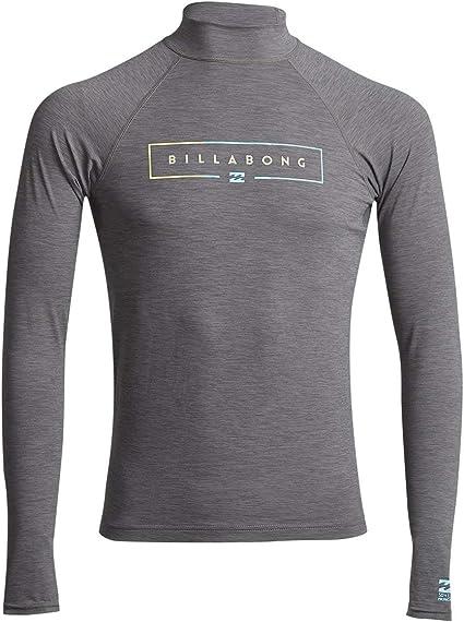 BILLABONG™ - Camiseta de Surf de Manga Larga con UPF 50 - Hombre - L - Gris: Amazon.es: Deportes y aire libre