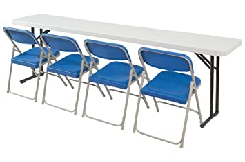 National Public Seating Seminar Folding Tables, 700lb Capacity, 18W X 72L  Inches