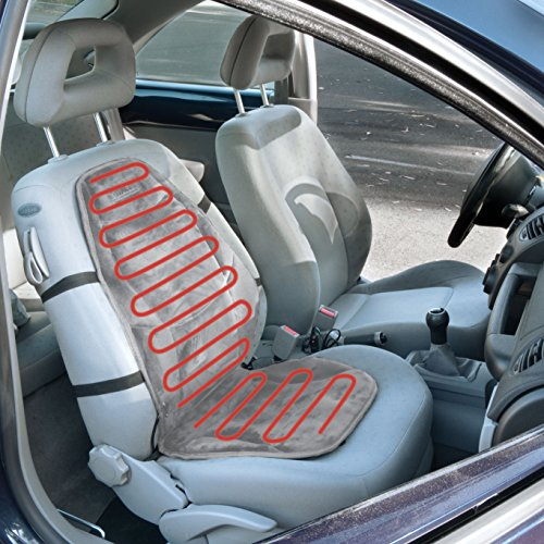 Wagan IN9438 2 12V Heated Seat Cushion With Lumbar Support