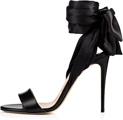 Amy Q Sexy Women's Satin Wrapped High