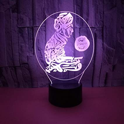 BFMBCHDJ Carácter creativo Árabe 3D Lámpara de escritorio creativa ...