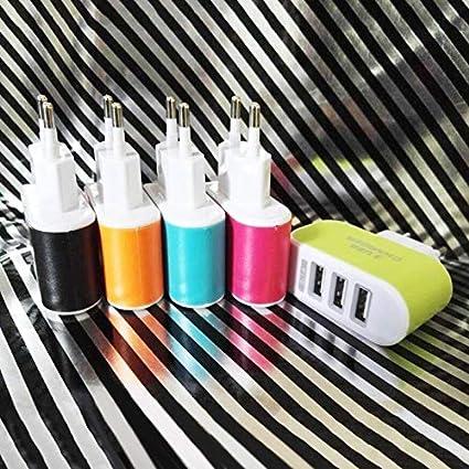 Universal Candy Color 3USB Chargeur Voyage Chargeur Mur Adaptateur Chargeur Alimentation T/él/éphone Mobile Intelligent pour Tablettes EU Vert