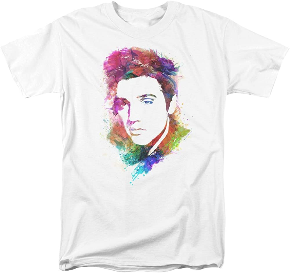 Elvis Presley WATERCOLOR KING Licensed Adult T-Shirt All Sizes