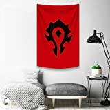 """SUIBIAN World of Warcraft Horde Alliance Banner Flags Poster 3x5 Ft (59""""x 39"""")"""