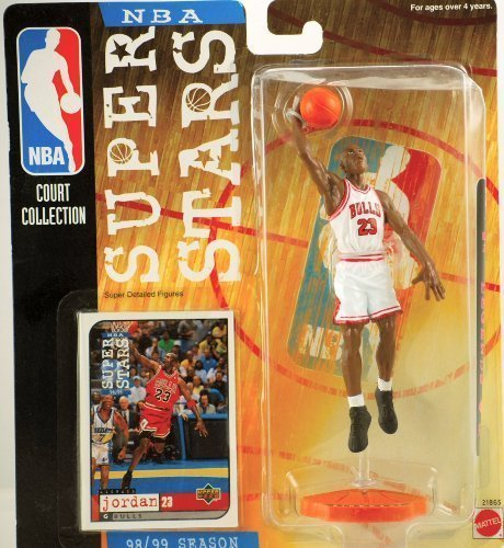 (1998-99 NBA Super Stars Michael Jordan Figure White Jersey)