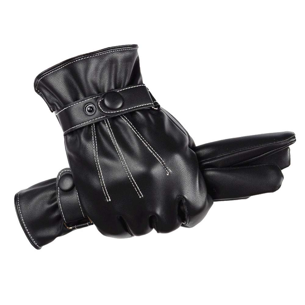 Woisha Autumn And Winter Warm Full Touch Riding Plus Cashmere Touch Screen Gloves