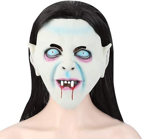 Pelucas Máscara de látex de Terror con Peluca de Pelo for The Grudge Sadako Ghost Halloween Masquerade Pelucas: Amazon.es: Hogar