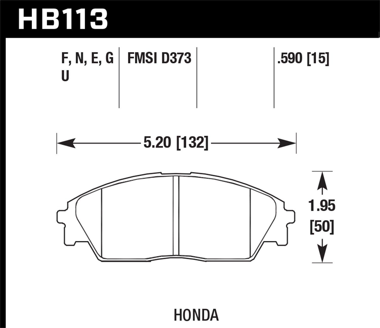 Hawk Performance HB113G.590 Disc Brake Pad