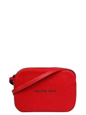 9547ef32bb Balenciaga Femme 552370D6w2n6565 Rouge Cuir Sac Porté Épaule: Amazon.fr:  Vêtements et accessoires