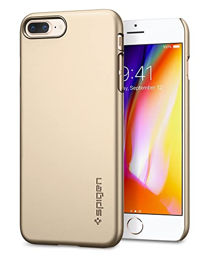 premium selection 5f195 8ca88 Spigen Thin Fit [2nd Generation] iPhone 8 Plus Case/iPhone 7 Plus Case with  Premium Matte Finish Coating for Apple iPhone 8 Plus (2017) / Apple iPhone  ...