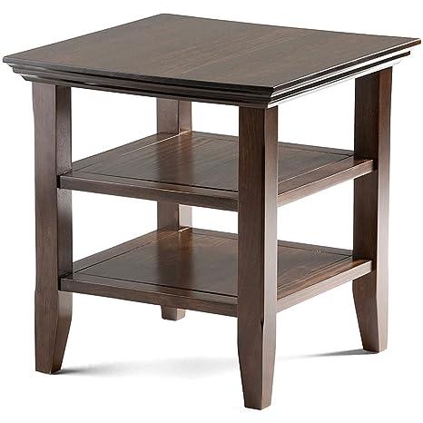 Amazon.com: Nakshop - Mesa de madera rústica hecha a mano de ...