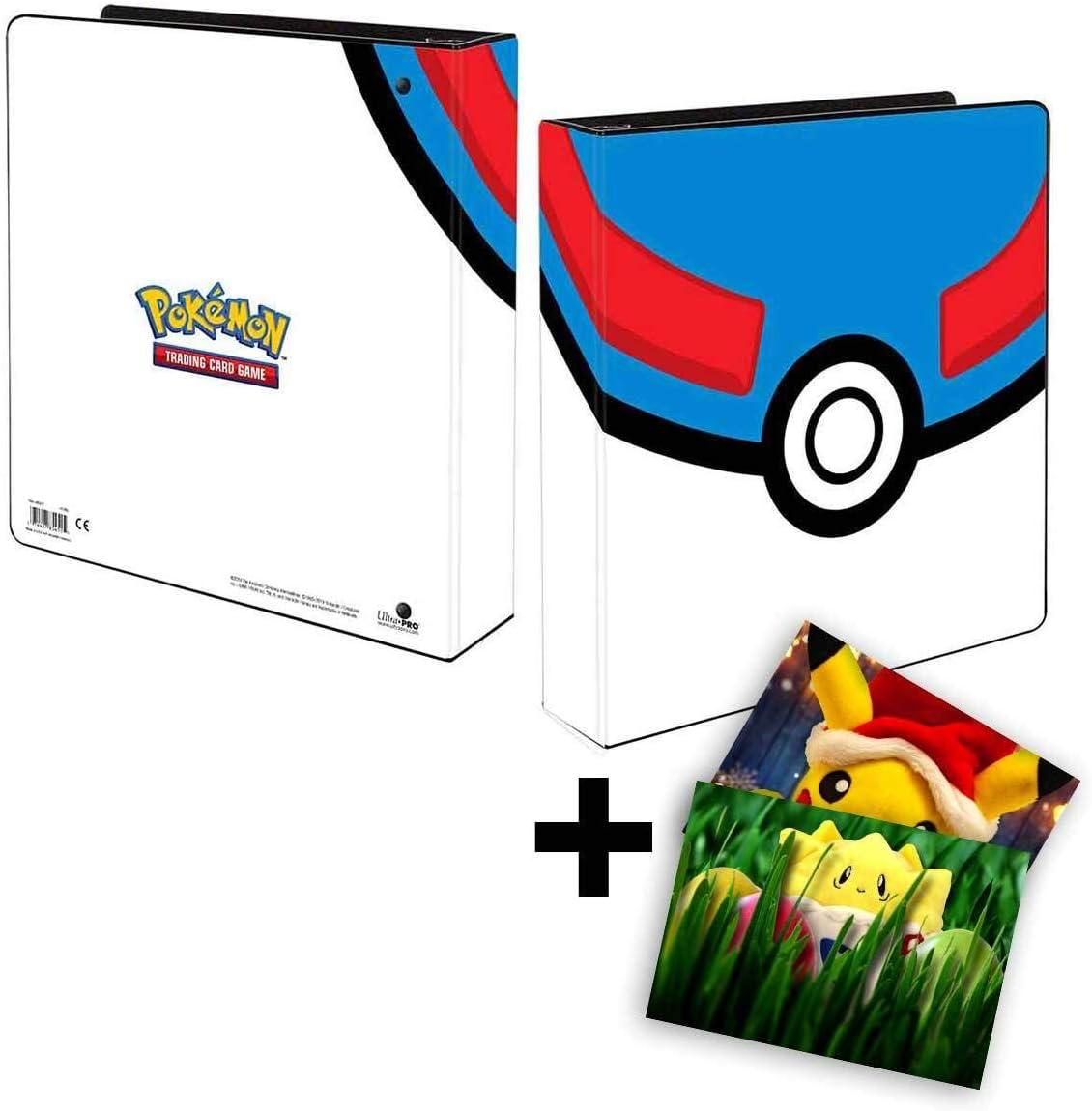 GRATIS Gru/ßkarte Lively Moments Pokemon Ultra-Pro 3-Ring-Ordner A4 in Superball Optik Sammelkartenalbum
