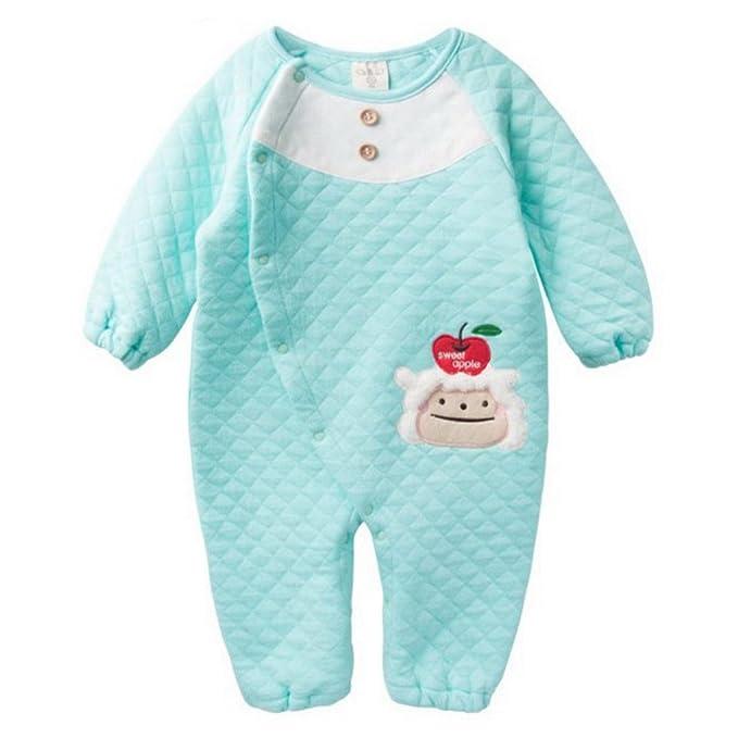 FEOYA - Mono Pelele Pijama Jumpsuit Saco de dormir Diseño Animales para otoño primavera para Bebés Niños Niñas de algodón 90cm - Verde: Amazon.es: Ropa y ...