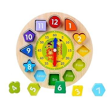 Afunti Toy Reloj Puzle - Juguete Educativo De Madera para Aprender Las Horas ,Relojes de Aprendizaje,Reloj De Rompecabezas para Niños: Amazon.es: Juguetes y ...