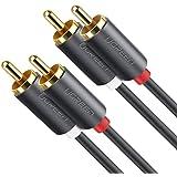 Ugreen Cable 2RCA a 2RCA de Audio Estéreo 2M Chapado en Oro para Home Theater, HDTV, Consolas de Juegos, Sistema HiFi, Bocina